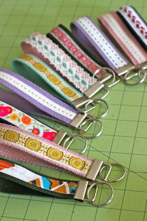 great pics: How to make a wristlet strap for keys, camera, water bottle, etc. Less than a dollar in materials per strap.