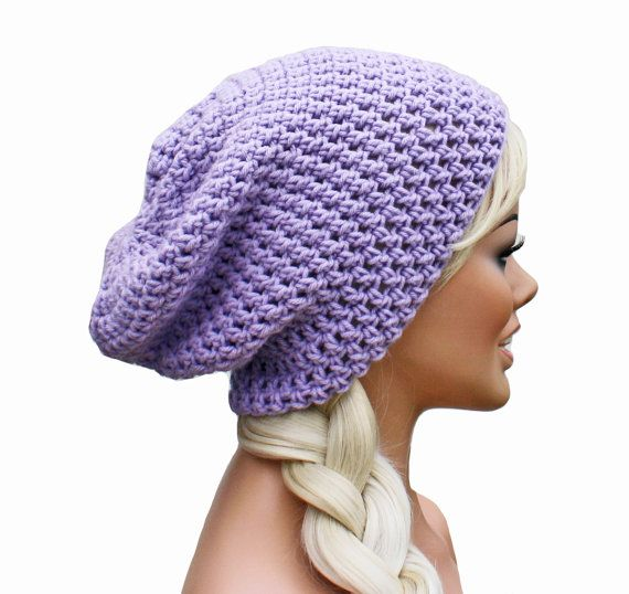 Lavender Purple Slouch Beanie Hat  Ultimate by GlamourDamaged