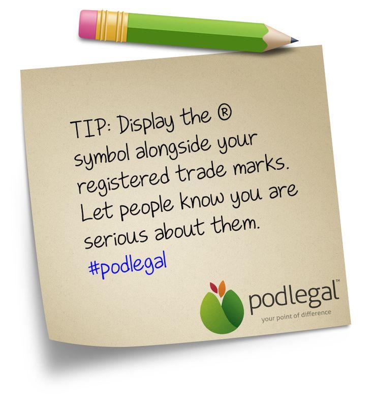 Celebrate your registered trade marks!  #IP #trademarks #podlegal