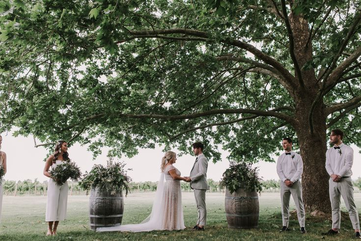 Jess & Chris getting married under the trees | photography by Anitra Wells