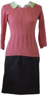 Comfort and class are words that come to mind when seeing this coral sweater.
