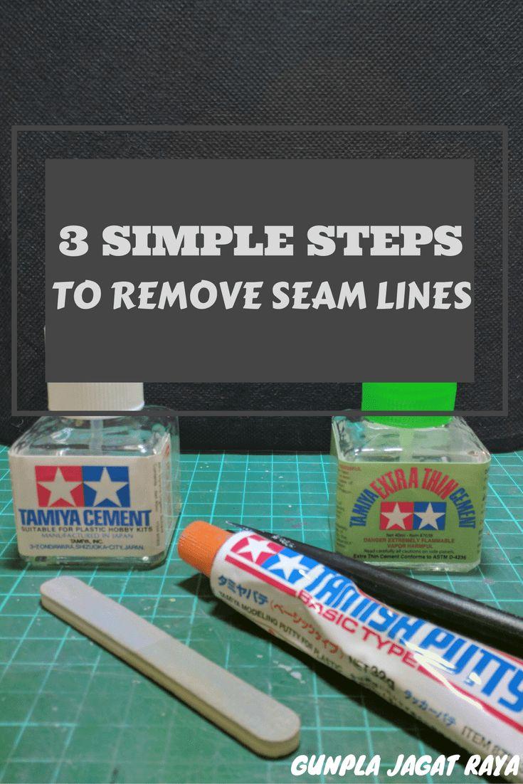 Gunpla tutorial. Gunpla techniques on removing seam lines.