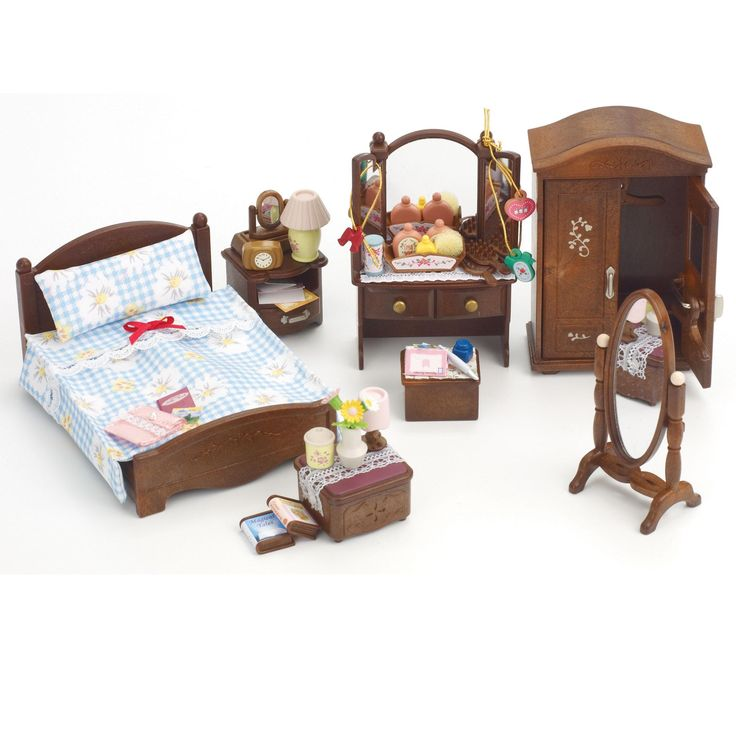 Toys sylvanian families deluxe master bedroom set for Bedroom accessory furniture