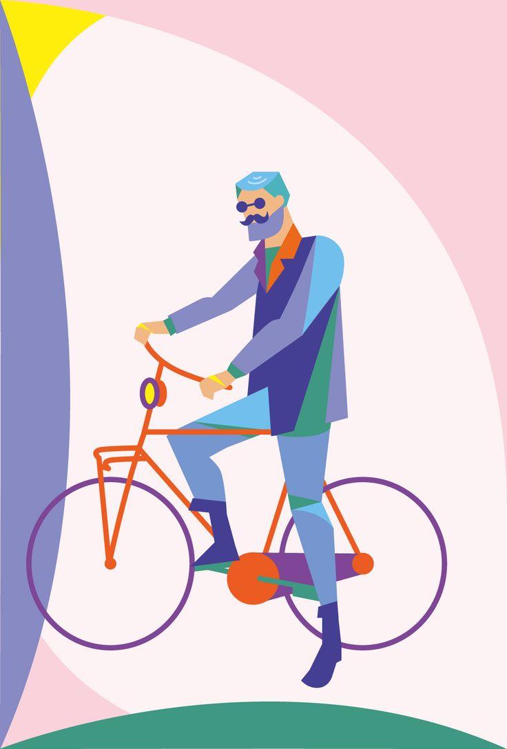 형형색색 자전거를 탄 아저씨 - 부윤희