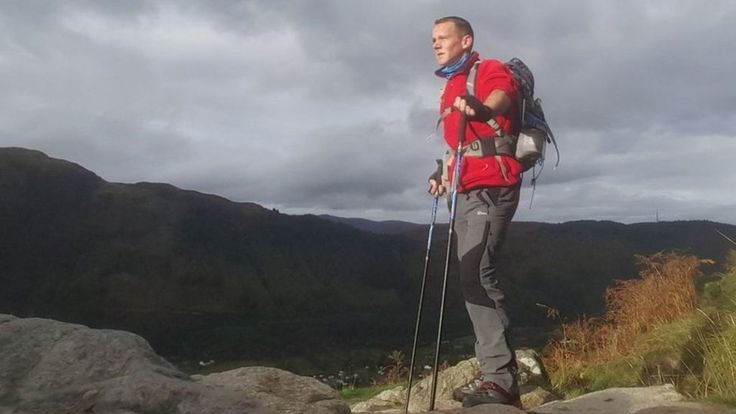 Andy Cole, 40, from Blackpool, tackled the UK's highest mountain to help him battle depression.
