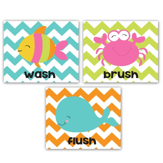 43 Best Images About Kids 39 Bathroom On Pinterest Chevron Picture Frames Wall Shelf With Hooks