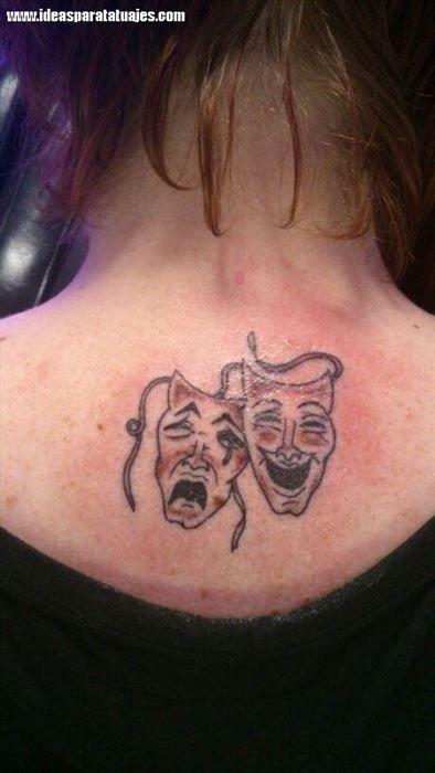 tatuajes de mascaras de teatro 20