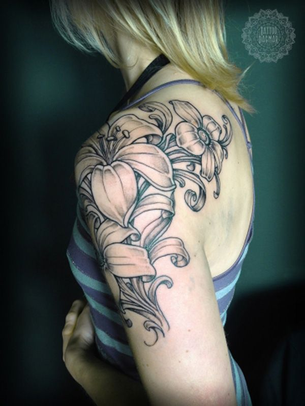 Best 25  Lace Flower Tattoos Ideas On Pinterest