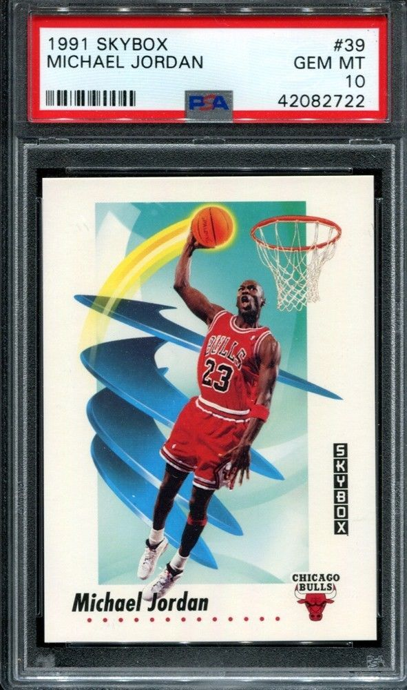 meet e1181 97d58 Michael Jordan 1991 Skybox  39 Chicago Bulls PSA 10   Hottest PSA 10 Gem  Mint Trading Cards for Sale on eBay   Pinterest   Michael Jordan, Basketball  cards ...