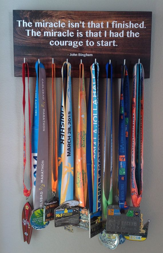 Race Medal Holder  Miracle by RunningByTheSea on Etsy