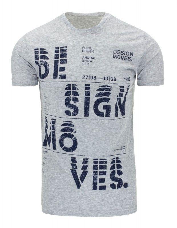 Pánské tričko - Moves, šedé