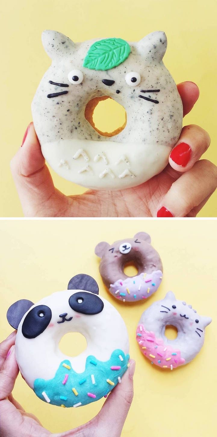 Adorable donuts | character donuts | creative food | delightful desserts