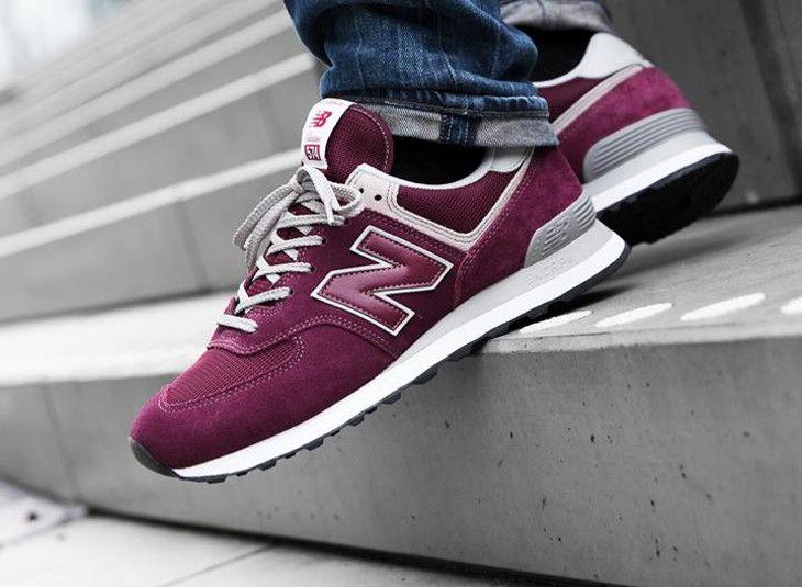 los angeles 64482 a3a5e où acheter les chaussures New Balance ML574EGB Bordeaux ...