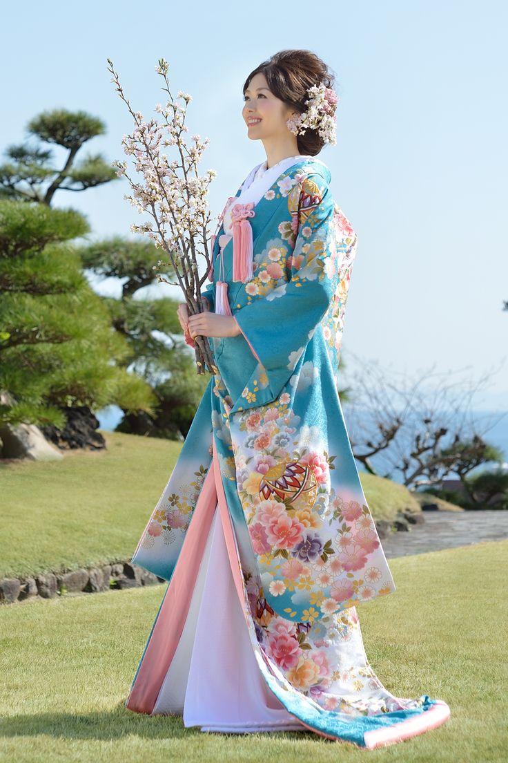 桜流水に鞠花 kimono Japanese wedding