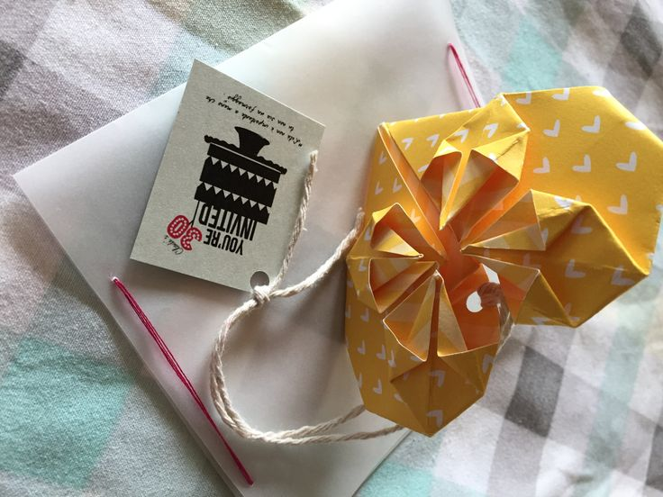 Partecipazioni Origami -tutorial-