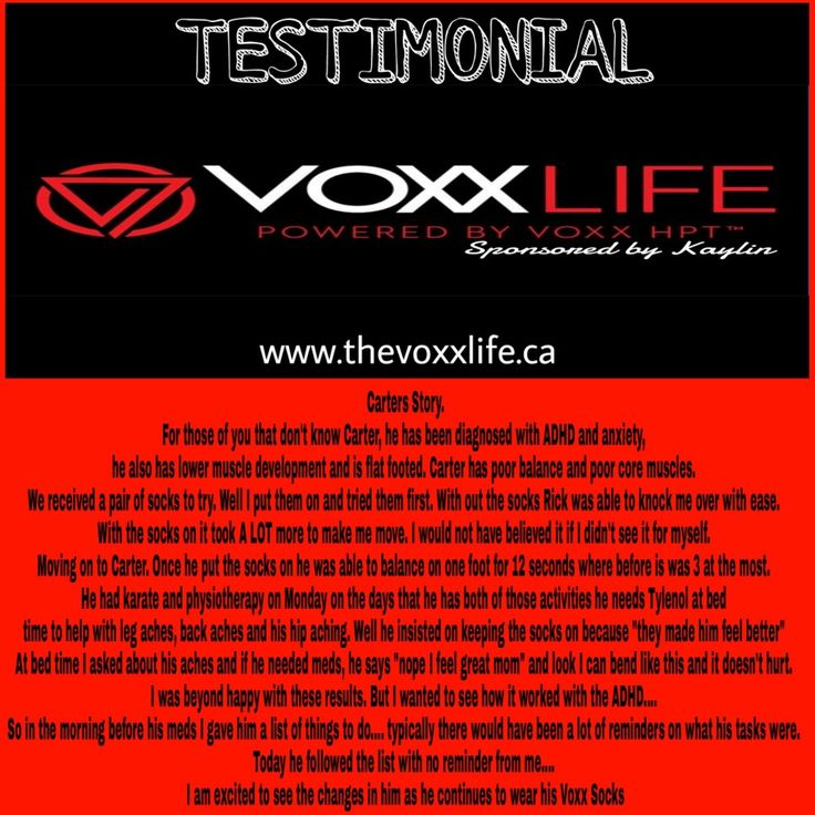 TESTIMONIAL #8 www.thevoxxlife.ca #voxxlife #adhd #anxiety #flatfoot #muscles