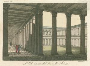 L'elevazione del Foro di Atene. [Elevation of the forum at Athens.] (1823-1838)