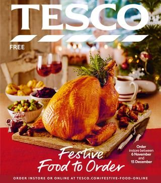 Tesco Festive Food to Order 2016  Welcome to our Festive Food to Order brochure, which highlights the best of Tesco's Christmas food, including exclusive items that you won't find instore. Place your order and arrange collection or delivery at a time that suits you. All our food is prepared for cooking or ready to serve, so you can relax with your family and friends, confident that your Christmas will be perfect.
