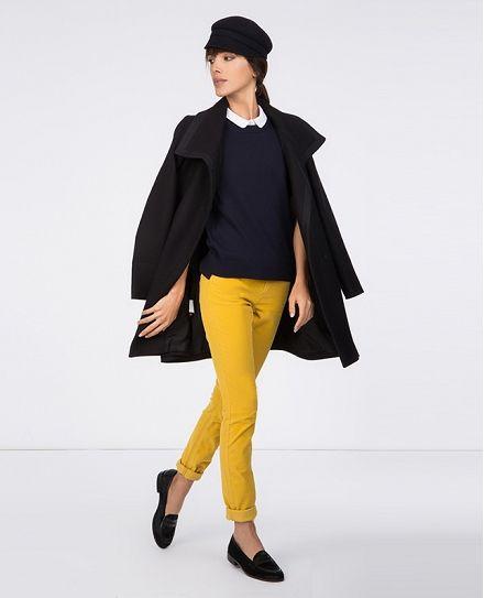 Manteau droit | Blousons et manteaux | Comptoir des Cotonniers 50% de laine: ce manteau pourrait bien devenir MON manteau pour l'hiver 2014/2015 ... :-)