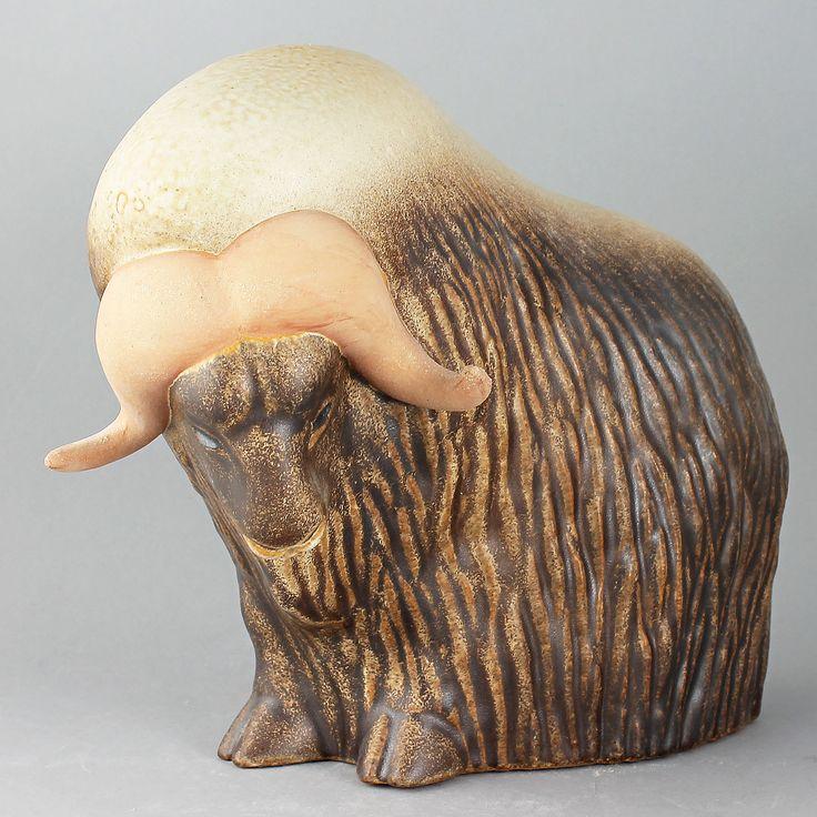 Paul Hoff (1990s) Charming Musk-ox Sculpture