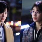 """On October 25, """"While You Were Sleeping"""" released new stills that show Suzy shedding tears in front of Lee Jong Suk."""