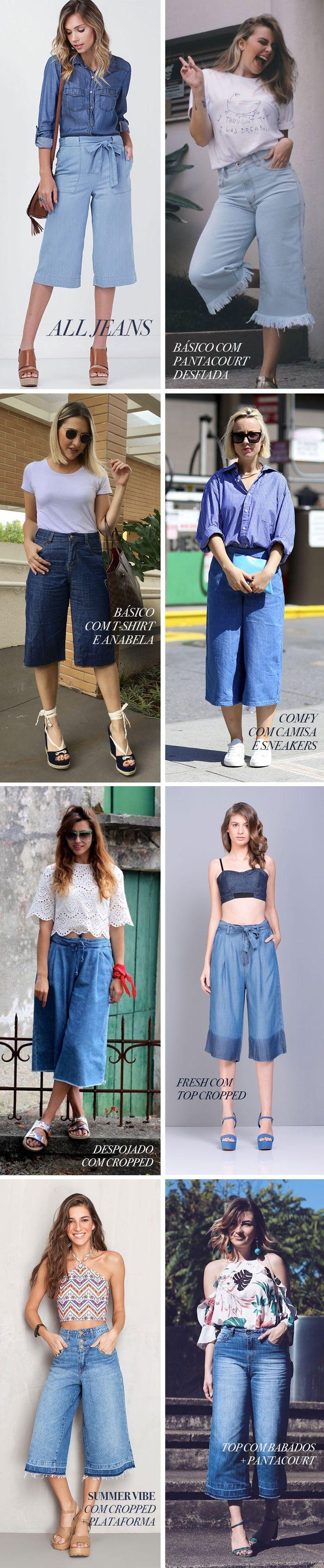 Tendência Pantacourt Jeans como usar