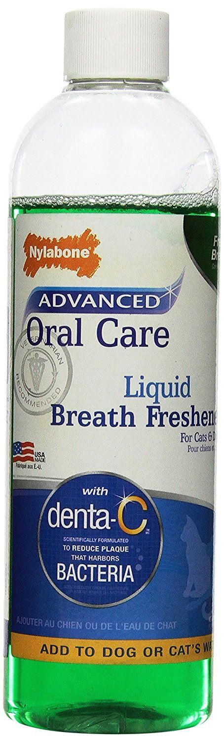 Nylabone Advanced Oral Care Liquid Breath Freshener, 16-Ounce *** Trust me, this is great! Click the image. : Cat Health and Supplies