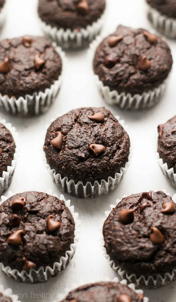 Best 25+ Healthy chocolate muffins ideas on Pinterest | Healthy ...