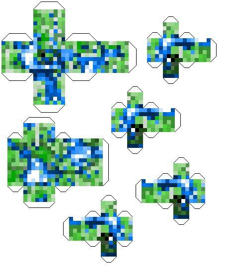 Как сделать оригами майнкрафт фото 991
