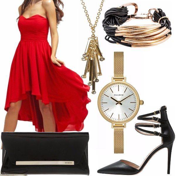 Questo outfit decisamente elegante e sexy è pensato per una particolare serata romantica come può esserlo San Valentino o un qualsiasi anniversario! Il vestito, obbligatoriamente rosso (colore che personalmente adoro) poiché, si sa, il rosso è il colore che meglio rappresenta l'amore e la passione!