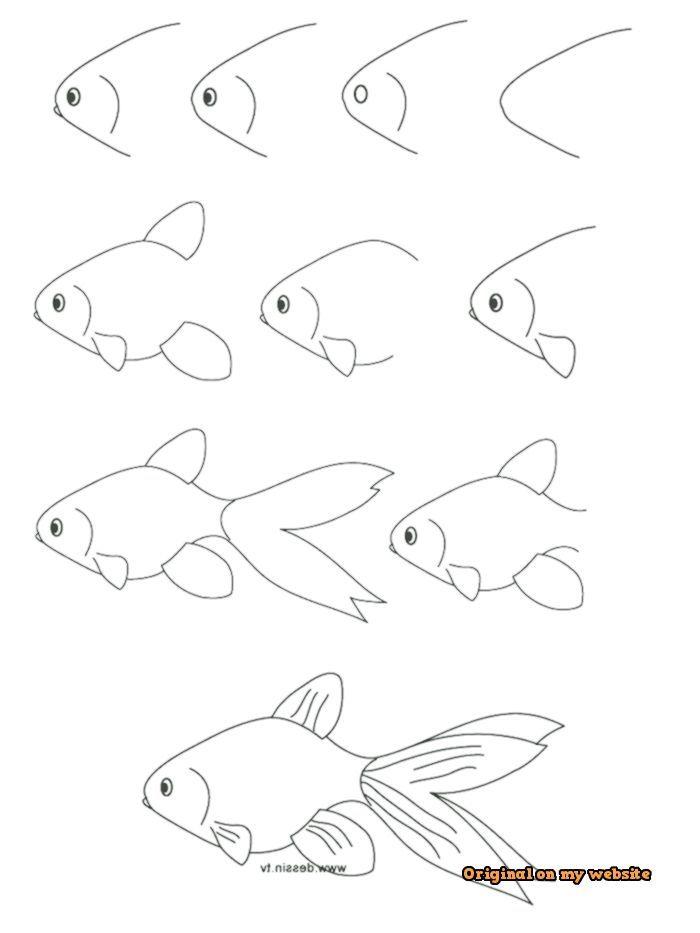 Art Drawings Tumblr Leichte Zeichnungen Fisch Zeichnen Lernen Fur Kinder Anleitung In Zehn Schrit Fische Zeichnen Fische Zeichnen Anleitung Einfach Zeichnen