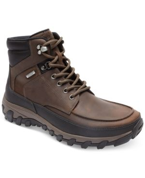 Rockport Men's Cold Springs Plus Moc Waterproof Boots, Only at Macy's - Brown 10.5