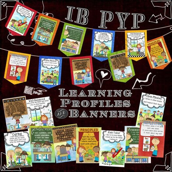IB PYP Learning Profile Posters & Banners International Version from Celebrate Learning Designs on TeachersNotebook.com (25 pages)  - A colorful way to display your IB PYP learner profiles with posters and banners!!  Great for any classroom!