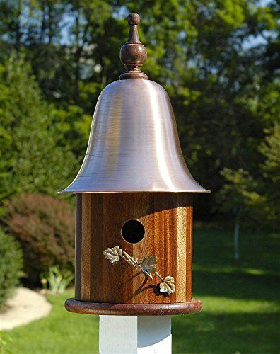 Ivy House Bird House w Mahogany Wood Copper Roof For Sale https://birdhousesforoutside.info/ivy-house-bird-house-w-mahogany-wood-copper-roof-for-sale/