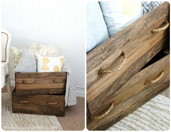 DIY crate: Storage Boxes, Crates Storage, Vintage Wood, Wooden Crates, Wood Crates, Diy Vintage, Decor Blog, Interiors Decor, Vintage Crates