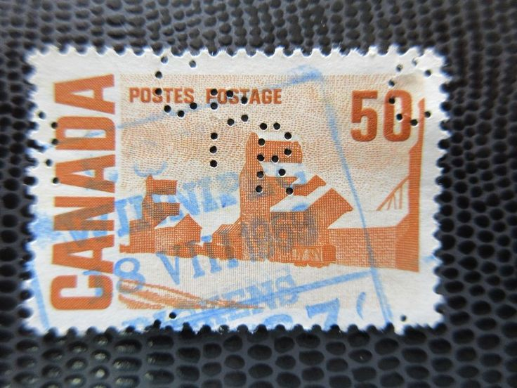 # 465A CPR Perfin Summers Stores used Canada stamp