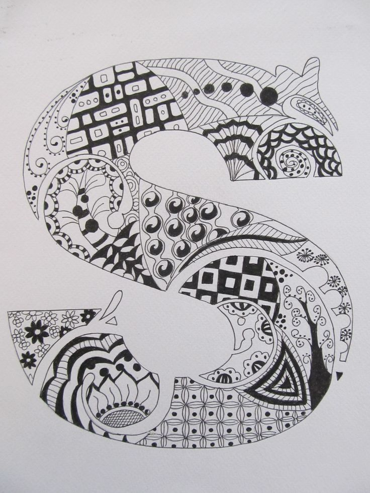 Zentangle Patterns Beginning With The Letter I