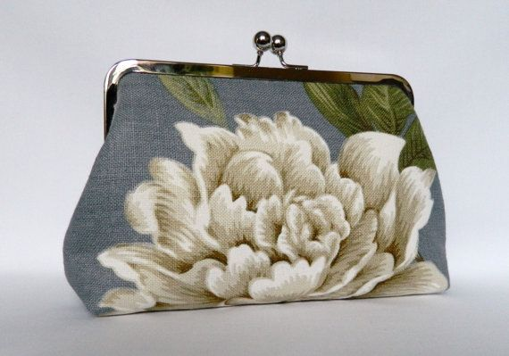Floral Clutch Purse Floral Wedding Clutch Floral by TheHeartLabel