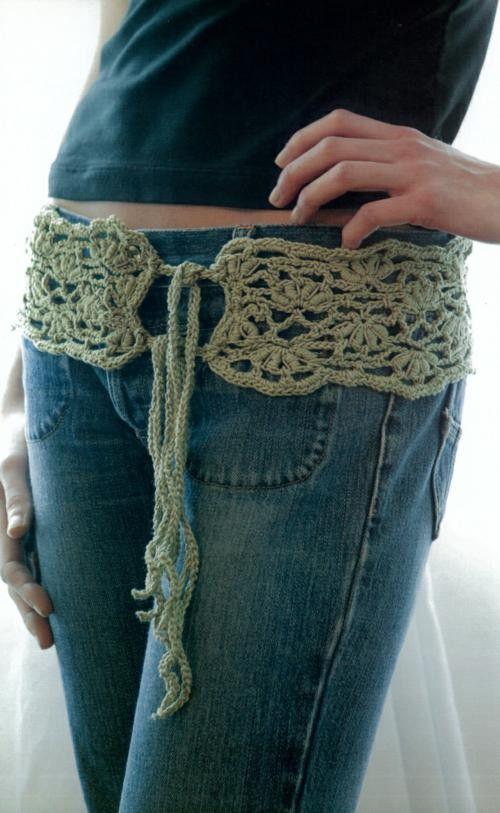186 Best Cinturones Tejidos Images On Pinterest Crochet Belt Belt