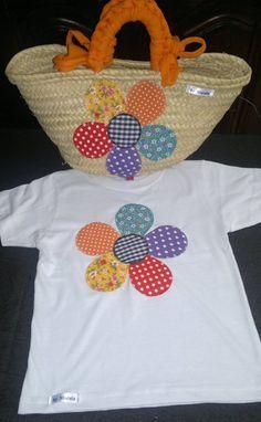 Conjunto de camiseta y cesta-capazo patch, Bolsos y carteras, Bolsos, Niños y bebé, Accesorios, Ropa, Camisetas, Textil, Patchwork