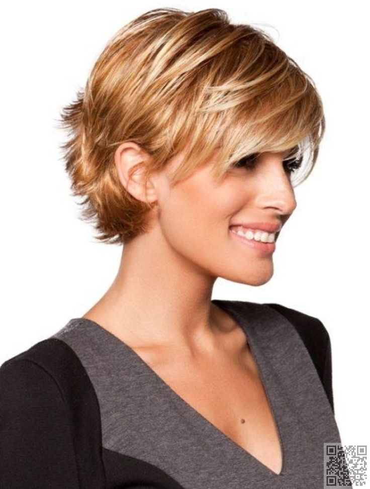 20. #Short and Sassy with #Bangs - 38 Hairstyles for Thin Hair to Add #Volume…