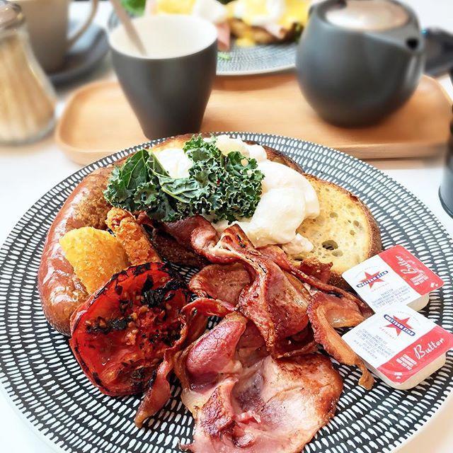 Photo #1044593775414934068 from @natanael27. - KAZU BIG BREAKFAST - w/ two #eggs, #bacon, hash brown, #sausage, #grilledtomato on sourdough toast #morning #bigbreakfast #breakfast #cafe #kazu #westfield #miranda #food #foods #foodie #foodblog #foodgasm #foodporn #sydneyeats #sydneycafe #healthy #fit #delicious #diet #sydney