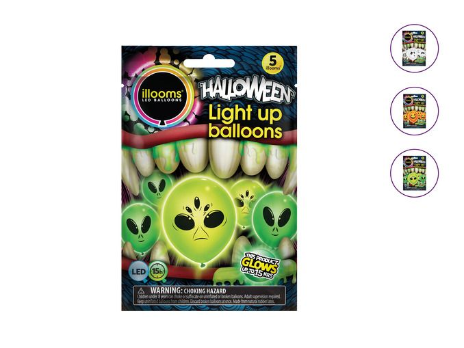 choose which you want Ilooms Halloween Light up balloons