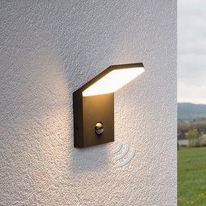 LED-Außenwandleuchte Nevio mit Bewegungssensor