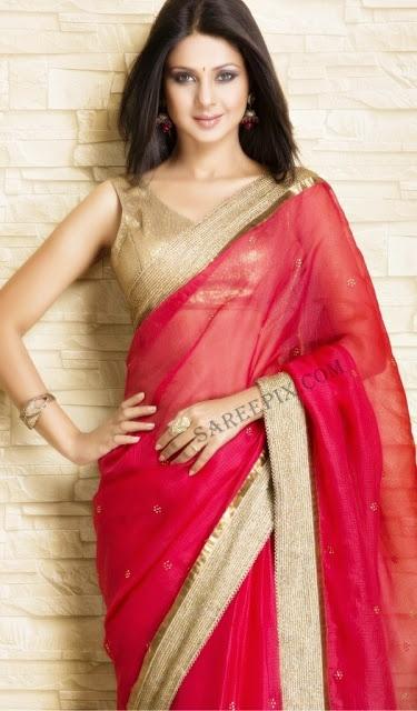 Jennifer Winget in Beautiful #SS13 #Saree by #Meena_Bazaar http://www.meenabazaar.org/