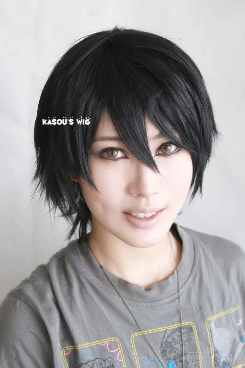 Sword Art Online Kirito / Kirigaya Kazuto short layer black cosplay wig . men wig on Etsy, $27.56