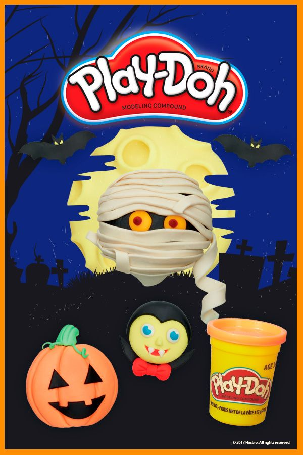 Encourage your little ones to create their favourite characters with Play-Doh this Halloween season!