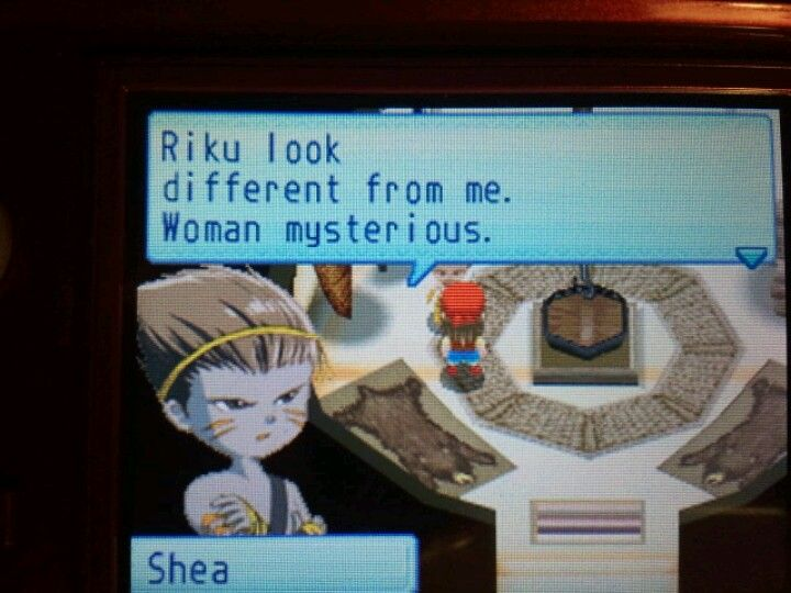 Did I ever mention that I love Shea to pieces? Because I do. Sunshine Islands is my favorite of the Harvest Moon series and no matter how many times I play I always end up married to him or Denny. Recently (yesterday) started replaying it. Let's see if I can break that pattern! ... Probably not.