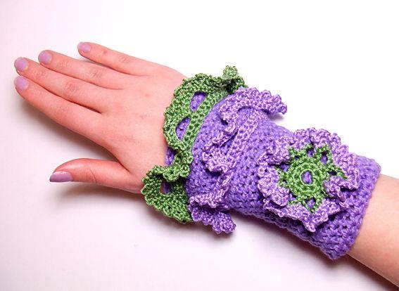 Armstulpen - Stulpen, Seide, Rüschen, Blume, leicht - ein Designerstück von kleines-prinzesschen bei DaWanda