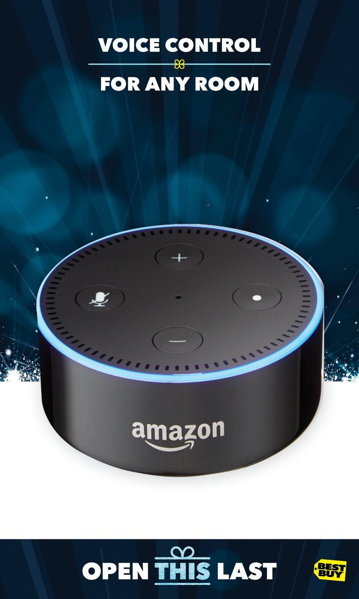 Save $20 on Amazon Echo Dot this holiday season — now only $29.99. It's a hands-free speaker controlled by your voice. Play music, ask questions, send messages, get sports scores, weather and more. Just ask Alexa. With its compact size and far-field voice recognition, the lucky ones on your gift list will enjoy hands-free control wherever they need it. For Amazon Echo and all the latest voice devices and tech gift ideas, go to Best Buy. $20 savings valid 12/10/17—12/23/17.